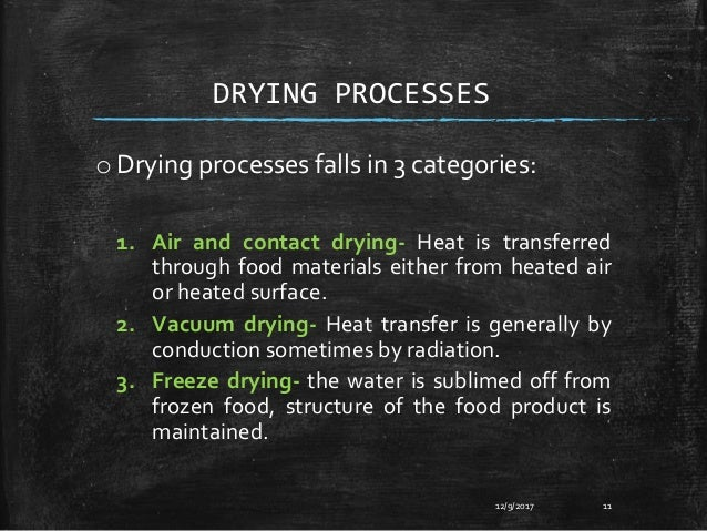 Drying Of Food