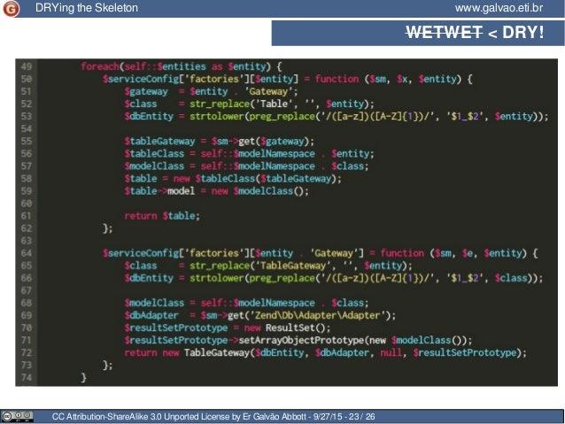 WETWET < DRY! CC Attribution-ShareAlike 3.0 Unported License by Er Galvão Abbott - 9/27/15 - 23 / 26 www.galvao.eti.brDRYi...