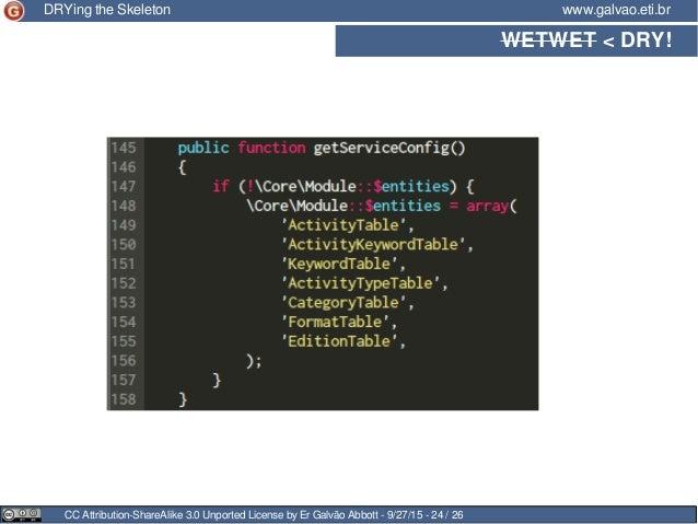 WETWET < DRY! CC Attribution-ShareAlike 3.0 Unported License by Er Galvão Abbott - 9/27/15 - 24 / 26 www.galvao.eti.brDRYi...