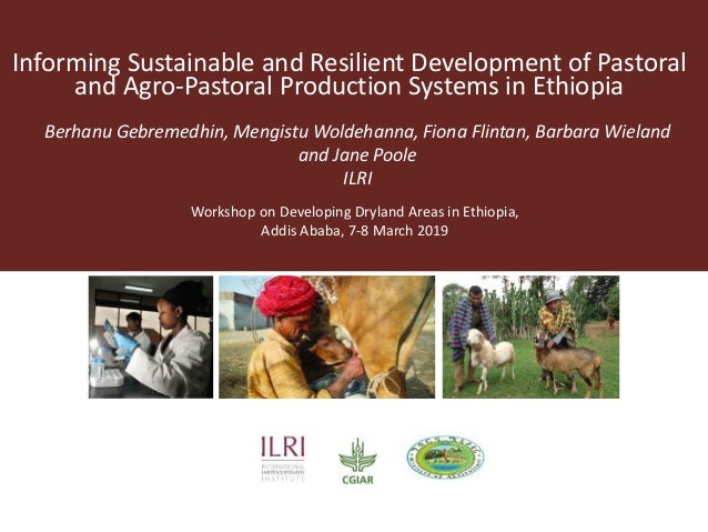 Informing Sustainable and Resilient Development of Pastoral and Agro-Pastoral Production Systems in Ethiopia Berhanu Gebre...