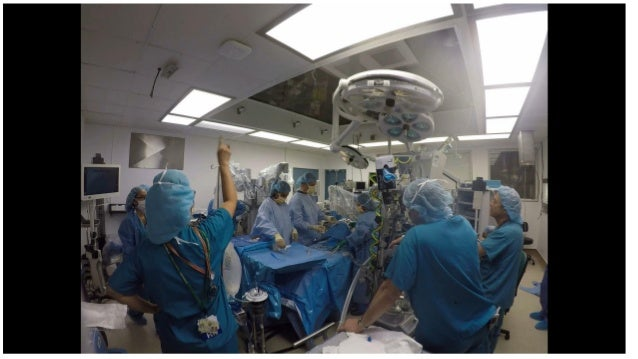 Team training for robotic heart surgery at Downstate