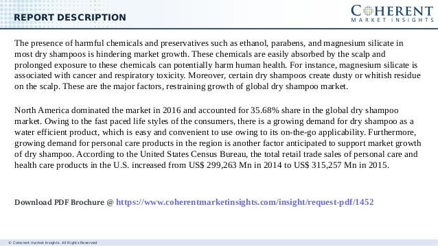 © Coherent market Insights. All Rights Reserved REPORT DESCRIPTION The presence of harmful chemicals and preservatives suc...