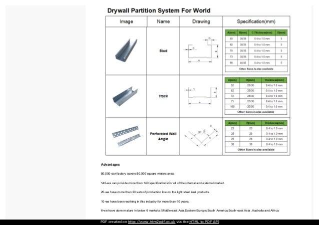 Drywall Partition System : Drywall partition system light steel metal stud with best