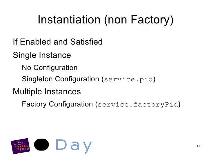 Implementations for OSGi <ul><li>Declarative Services