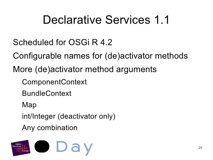 Component Descriptor <ul><li>XML