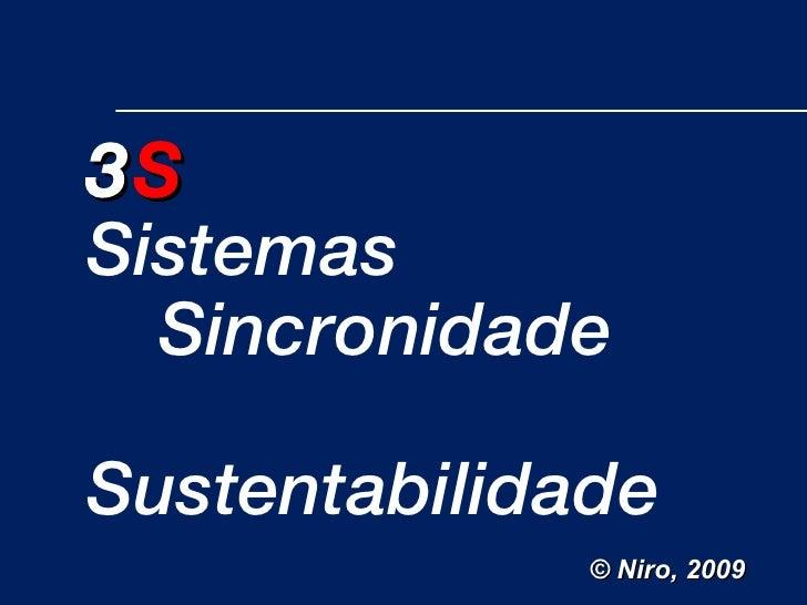 3 S Sistemas Sincronidade Sustentabilidade © Niro, 2009