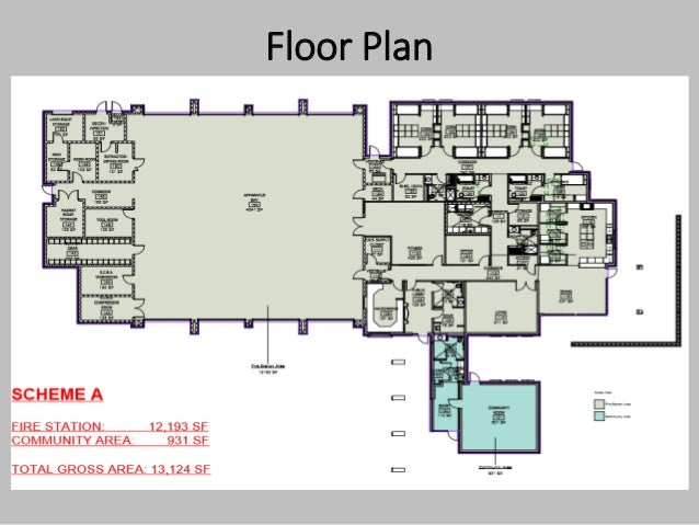 Ds 16 185 fire station 9 for Fire station floor plans design