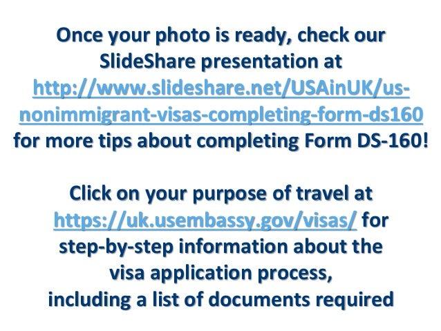 Us Nonimmigrant Visas Ds 160 Photo Requirements