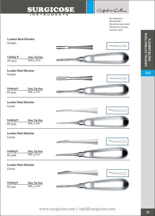 dental instruments names and pictures pdf