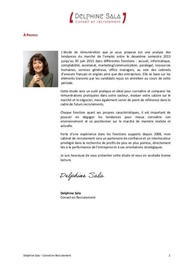 Delphine sala etude de r mun rations 2013 2015 - Cabinet de recrutement communication ...