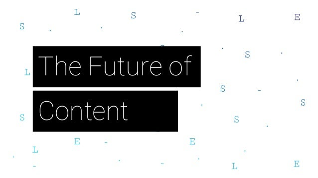Content The Future of