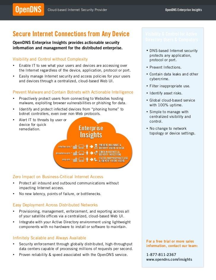 !                       Cloud-based Internet Security Provider                                       OpenDNS Enterprise In...