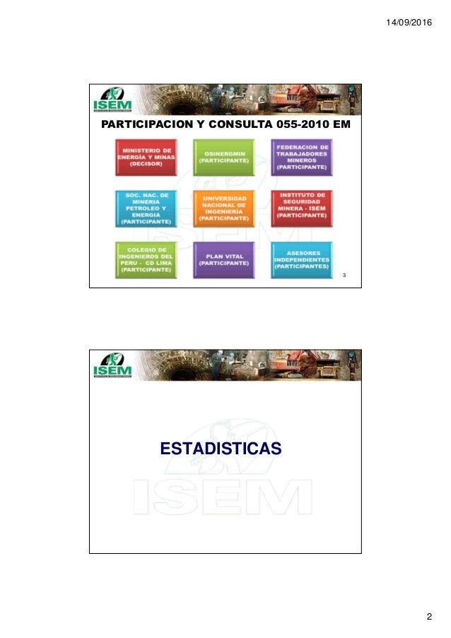 14/09/2016 2 PARTICIPACION Y CONSULTA 055-2010 EM 3 ESTADISTICAS