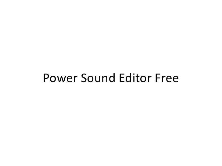كيفية تحميل برنامج الصوت المجانيPower Sound Editor Free<br />
