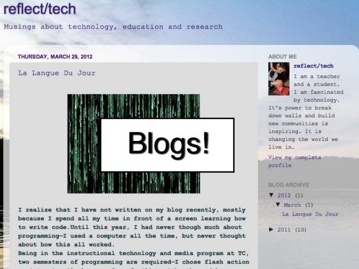 Blogs!