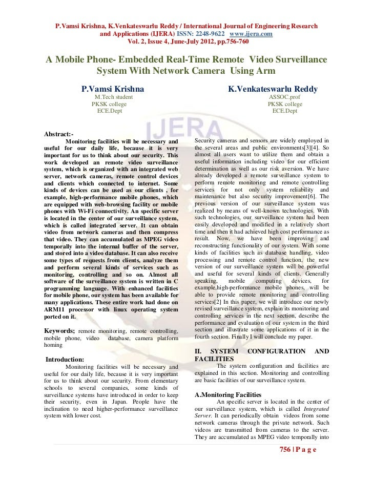 P.Vamsi Krishna, K.Venkateswarlu Reddy / International Journal of Engineering Research                  and Applications (...