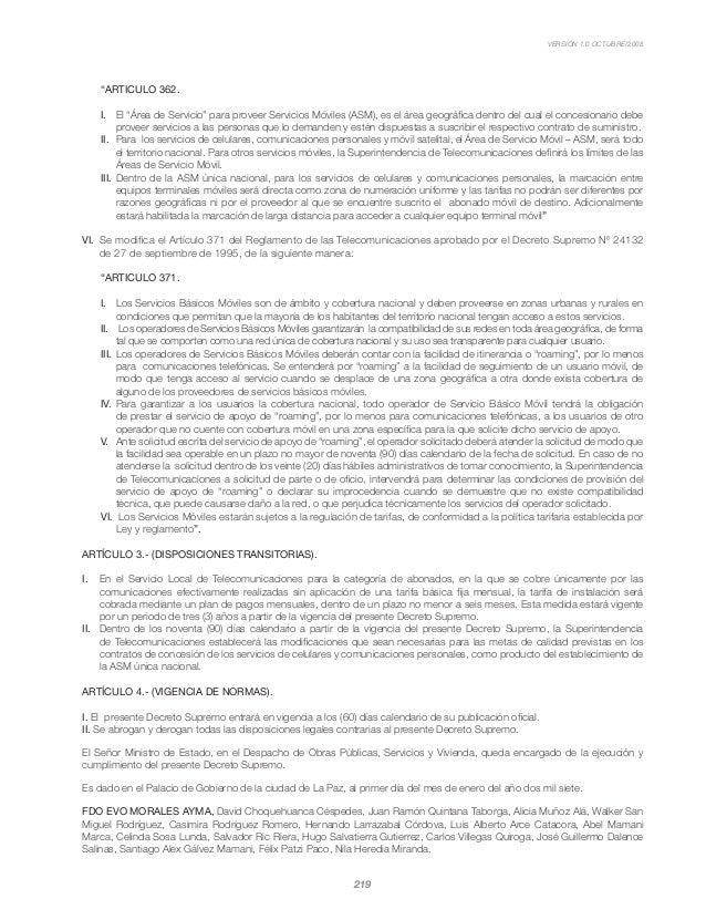 """VERSIÓN 1.0 OCTUBRE/2008 219 """"ARTICULO 362. I.  El """"Área de Servicio"""" para proveer Servicios Móviles (ASM), es el área ge..."""