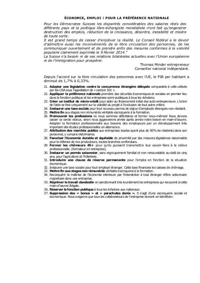 DEMOCRATES SUISSES - 95 mesures politiques  Slide 3