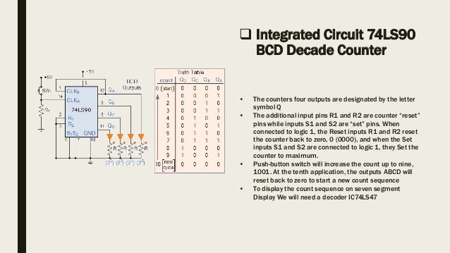 making of 0 9 decade counter with 7 segment display
