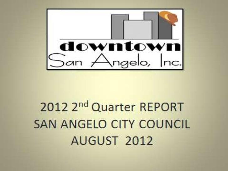 City Council 9-18-12 DSA 2nd quarter