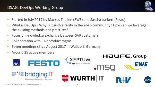 DSAG Tech Days 2018 - DevOps in SAP ABAP Landscapes Slide 3