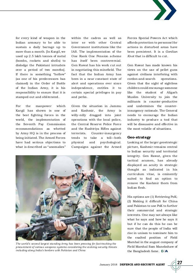 Defence and Security Magazine January 2018 Issue