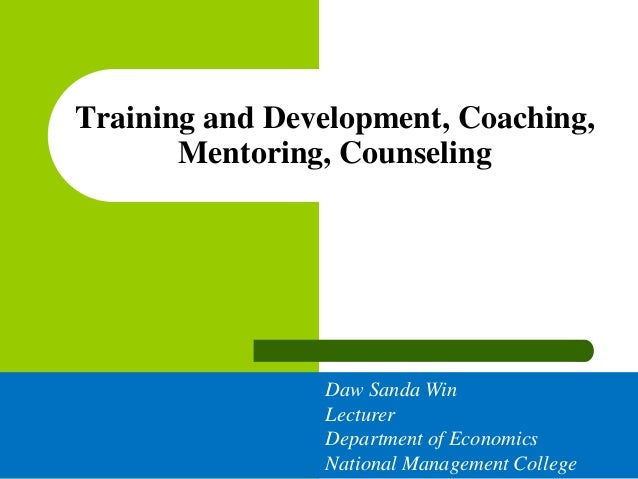 Coaching, Mentoring and Counseling Explained