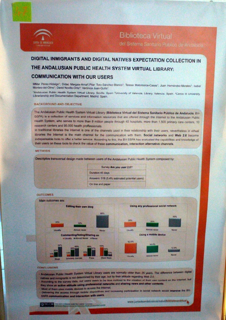 Digital immigrants and digital natives expectation collection in the Andalusian Public health system virtual library : com...