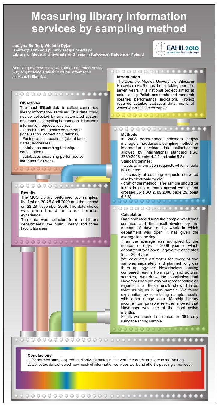 Measuring library information           services by sampling method Justyna Seiffert, Wioletta Dyjas jseiffert@sum.edu.pl,...