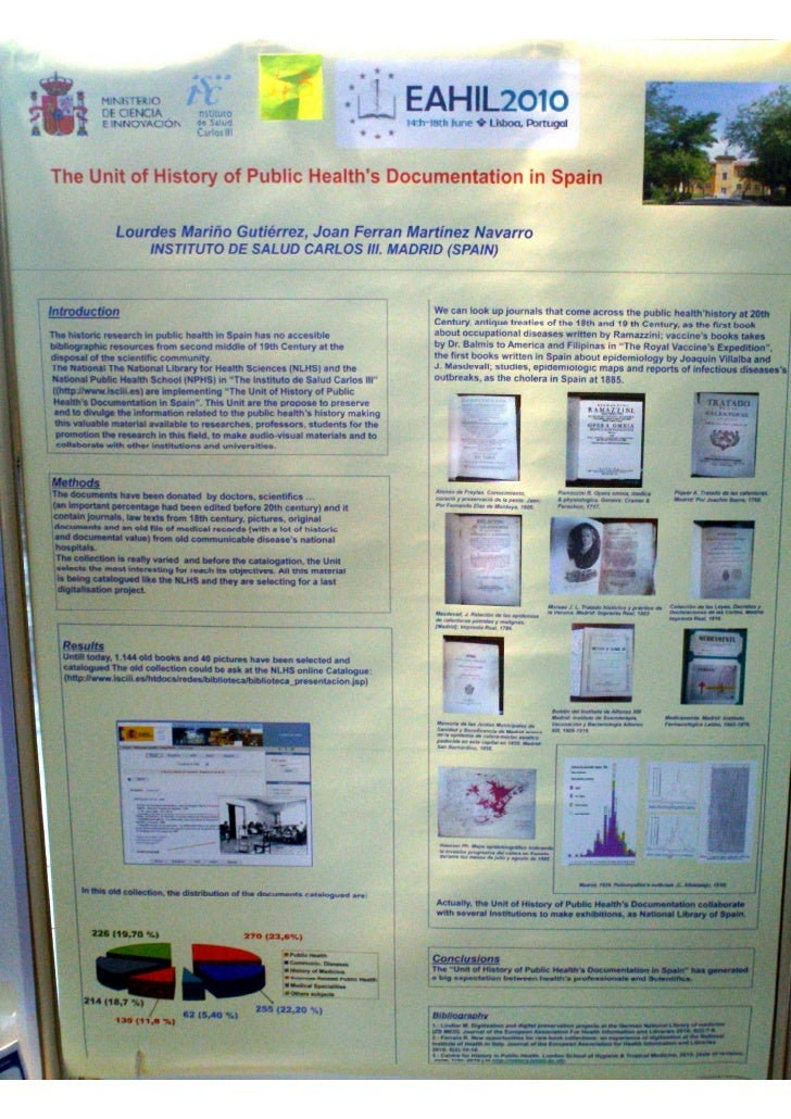 The Unit of History of Public Health's Documentation in Spain (Poster Eahil2010)