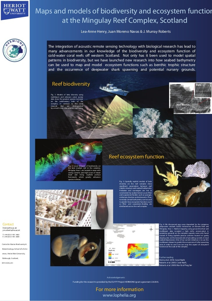 Maps and models of biodiversity and ecosystem function                                            at the Mingulay Reef Com...