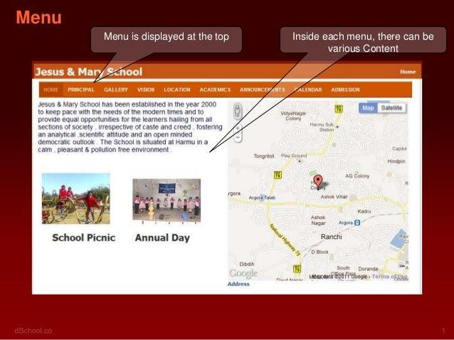 Menu       Menu is displayed at the top   Inside each menu, there can be                                              vari...