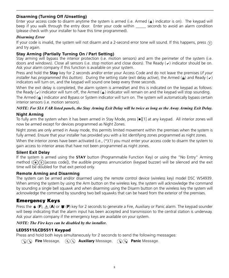 Dsc Powerseries pk5508 user Manual