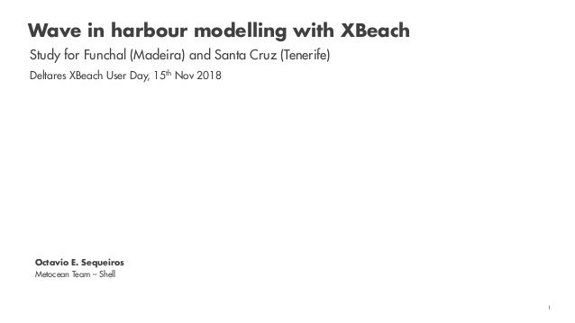 Shell RESTRICTED 1 Wave in harbour modelling with XBeach Study for Funchal (Madeira) and Santa Cruz (Tenerife) Deltares XB...