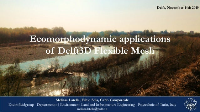 Delft, November 14th 2019 Ecomorphodynamic applications of Delft3D Flexible Mesh Melissa Latella, Fabio Sola, Carlo Campor...