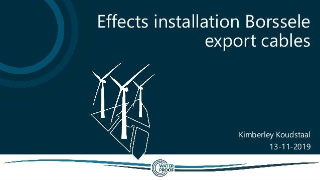 Kimberley Koudstaal 13-11-2019 Effects installation Borssele export cables