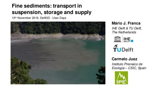 Fine sediments: transport in suspension, storage and supply 13th November 2019, Delft3D - User Days Mário J. Franca IHE De...