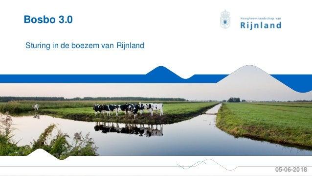 PAOTM cursus 105-06-2018 Sturing in de boezem van Rijnland Bosbo 3.0