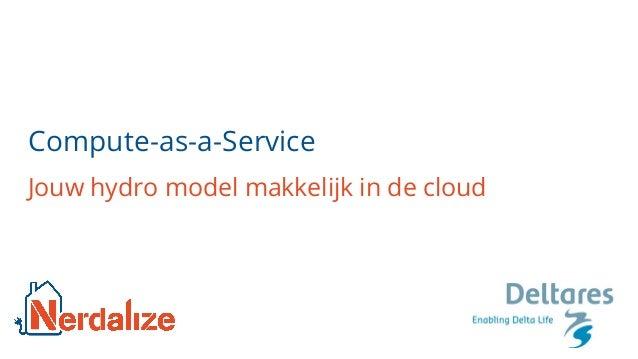 Compute-as-a-Service Jouw hydro model makkelijk in de cloud