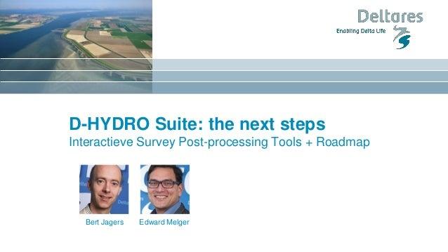 D-HYDRO Suite: the next steps Interactieve Survey Post-processing Tools + Roadmap Edward MelgerBert Jagers