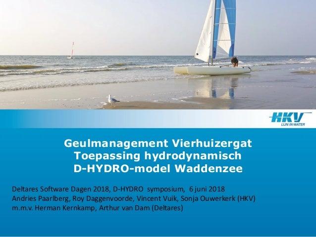 Geulmanagement Vierhuizergat Toepassing hydrodynamisch D-HYDRO-model Waddenzee Deltares Software Dagen 2018, D-HYDRO sympo...