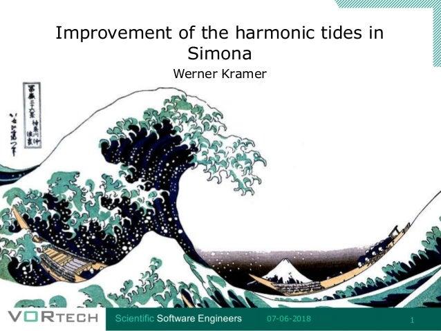 Improvement of the harmonic tides in Simona Werner Kramer 07-06-2018 1