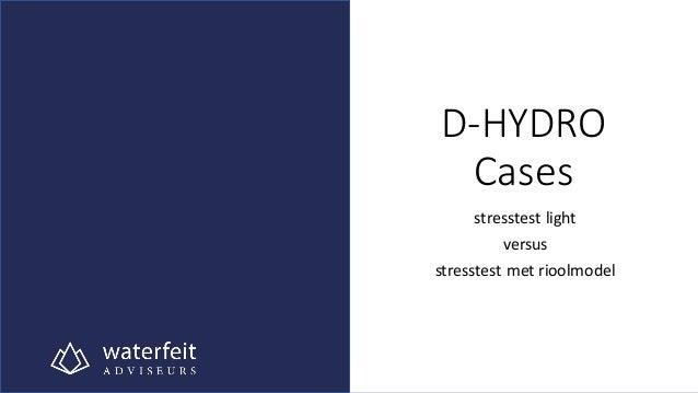 D-HYDRO Cases stresstest light versus stresstest met rioolmodel