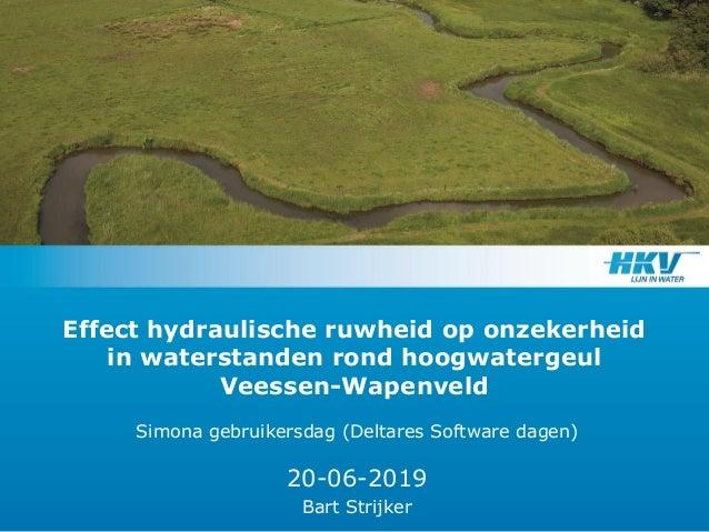 Effect hydraulische ruwheid op onzekerheid in waterstanden rond hoogwatergeul Veessen-Wapenveld Simona gebruikersdag (Delt...