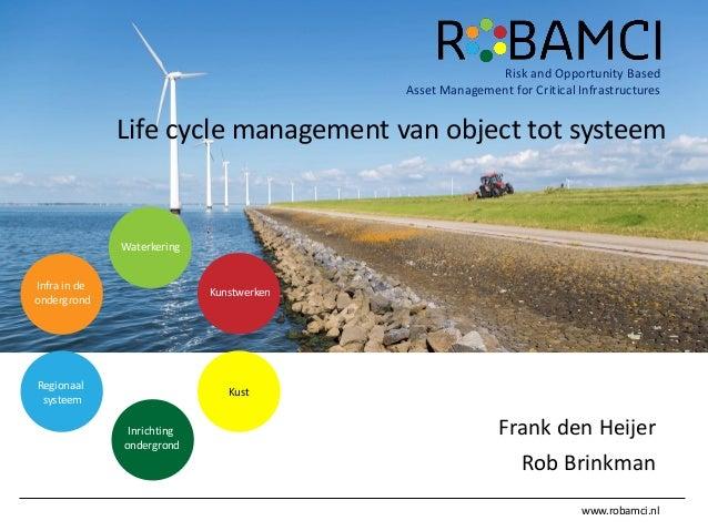 www.robamci.nl Risk and Opportunity Based Asset Management for Critical Infrastructures Frank den Heijer Rob Brinkman Wate...