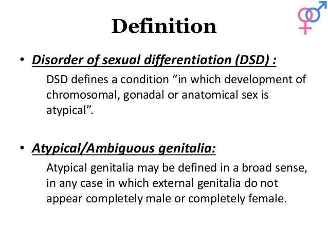 Sexual differentiation means