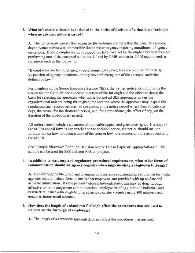 Dsd Guidance On A Potential Shutdown