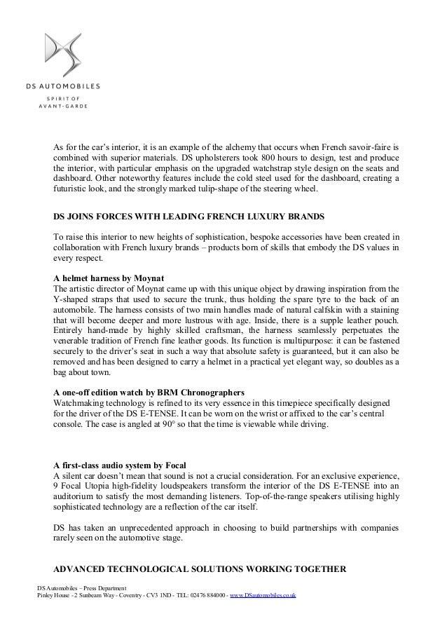 DS E Tense Concept Press Release