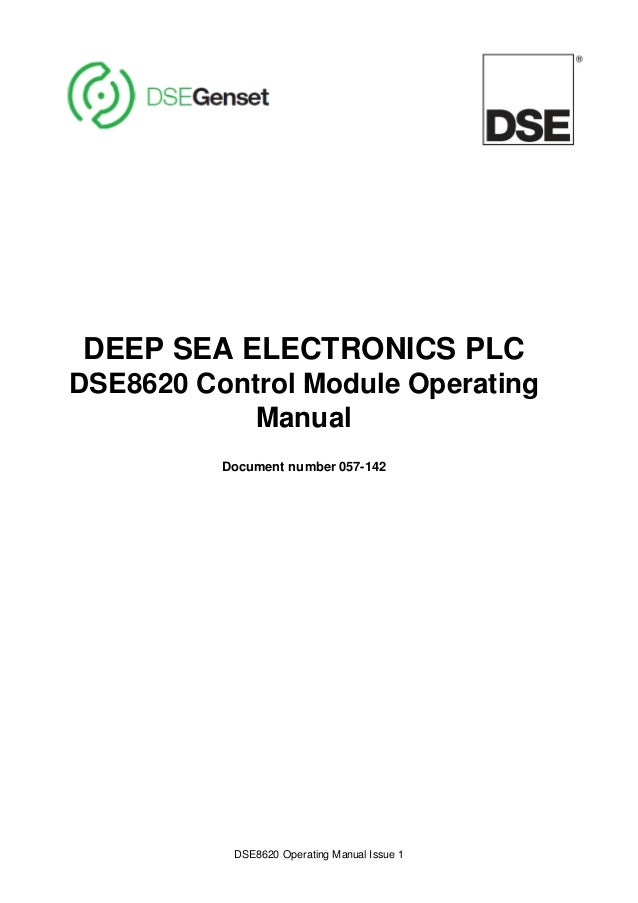 deep sea electronics 6020 manual