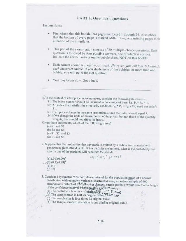 Delhi School of Economics Entrance Exam (2008)